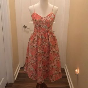 Gianni Bini Summer Floral Dress - Pink Size S